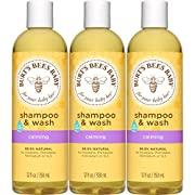 Burt's Bees Baby Shampoo & Wash, Calming Tear Free Baby Soap - 12 Ounce Bottle (Pack of 3)