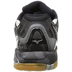 Mizuno Women's Wave Tornado X Volleyball Shoe, Black/Silver, 12 B US