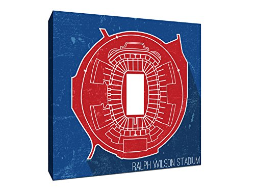 Ralph Wilson Stadium - Football Seating Map - 9x9 Gallery Wrapped Canvas Wall Art