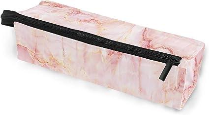 Estuche para gafas de sol portátil de mármol blanco y rosa, caja suave para mujeres y niñas, con cremallera, bolsa de almacenamiento para cosméticos con textura de piedra: Amazon.es: Oficina y papelería