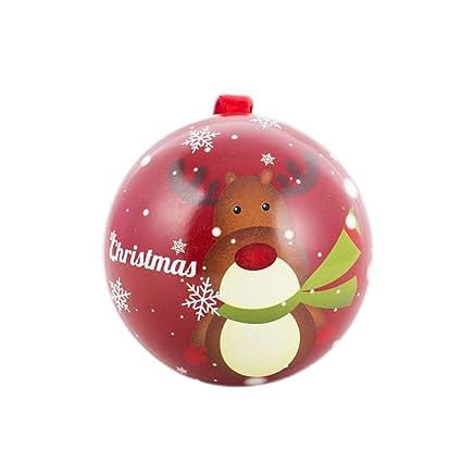 choold creative metal christmas ball ornaments candy dish elk santa clause snow tree tin box candy