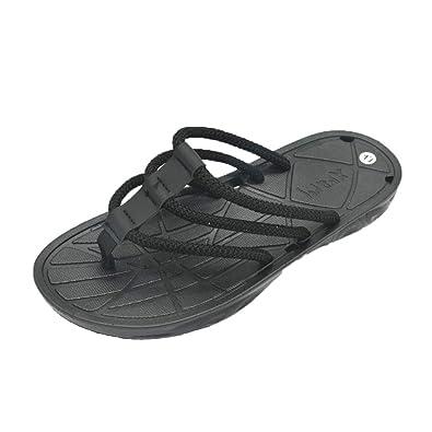 cfc80a5bc Amazon.com  Hivot Slippers Summer Men Mules   Clogs Casual Clip Toe Sandals  Non-Slip Flip Flop Beach Flats Outdoor Slipper  Shoes