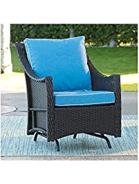 Outdoor Lindau All Weather Wicker Patio Swivel Glider Chair With Cushion  27.95W X 34.44D