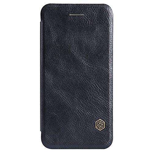 (HS-TOP  ® NILLKIN Qin leather case cover Conque Abdeckung PU-Leder Tasche für Apple iPhone 6 Plus (5,5 Zoll) schwarz