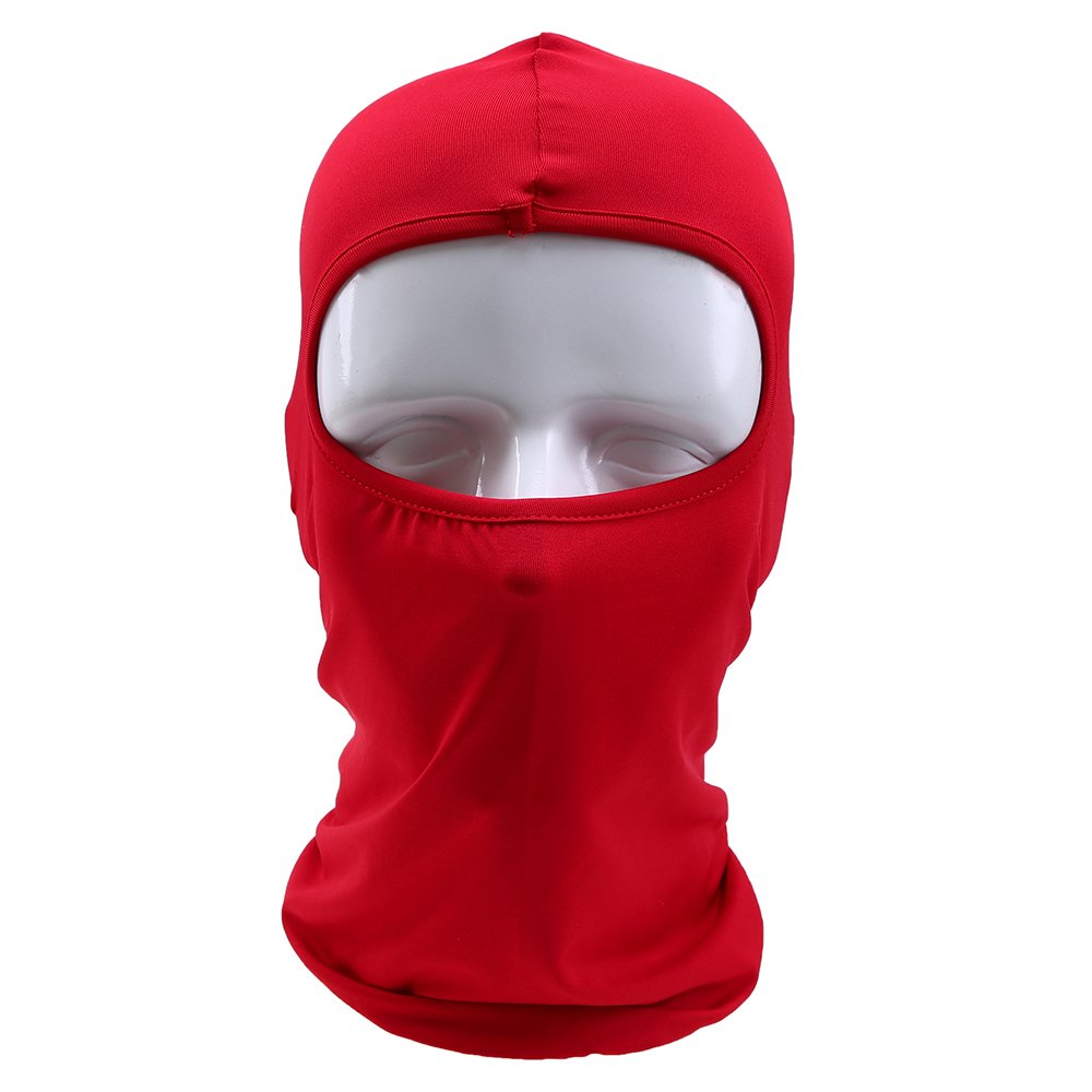 POSSBAY Balaclavas Face Mask, Motorbike Full Face Mask Neck Warmer for Ski Cycling Outdoors Sports in Winter -Black