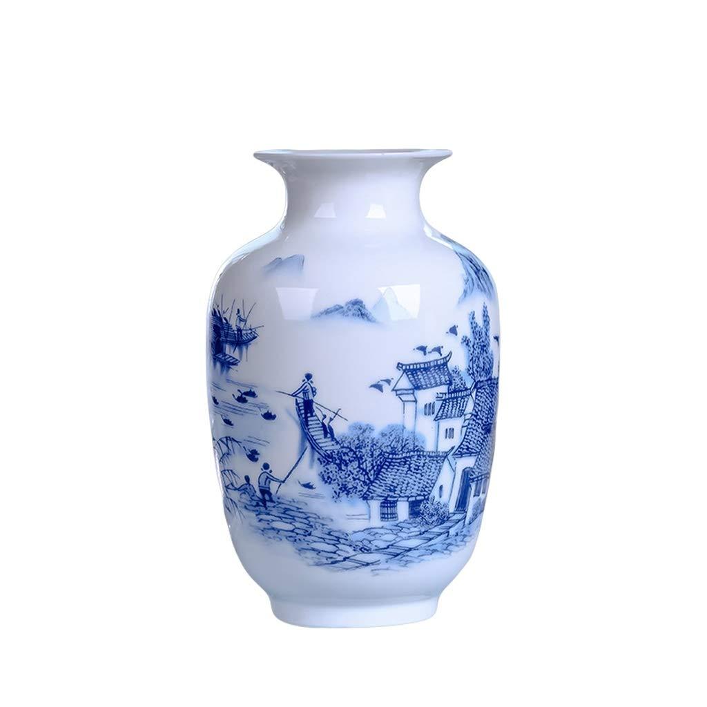 花瓶セラミック花瓶フラワーアレンジメント中国家庭用アクセサリーリビングルームダイニングルーム装飾工芸品装飾品 LQX (Edition : C) B07SHDDZNS  C