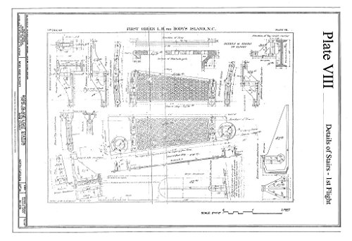 Historic Pictoric Blueprint Diagram HABS NC-395 (Sheet 22 of 36) - Bodie Island Light Station, Off Highway 12, Nags Head, Dare County, NC 12in x 08in
