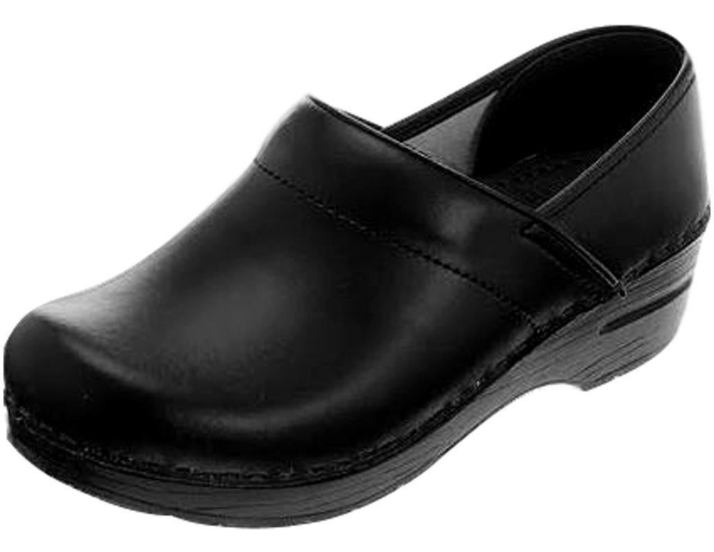 Professional Stapled Clog By Dansko Unisex Nursing Shoe Black Box