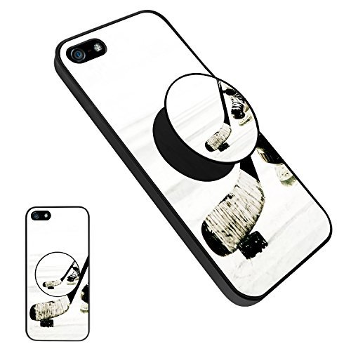 iPhone 5/5S/SE Ice Hockey Case with Pop Mount Stand, Persona