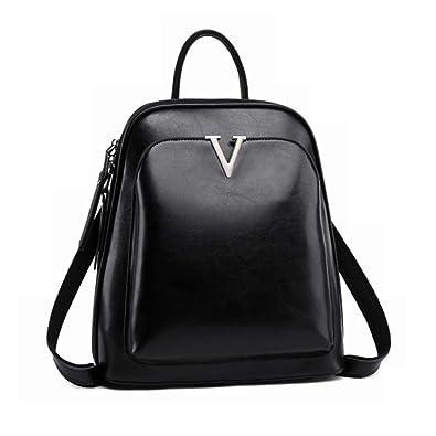 8db9917713 Amazon.com  Women Backpack Purse Casual Shoulder Bag Ladies Rucksack School  Bag for Girls (black)  Shoes