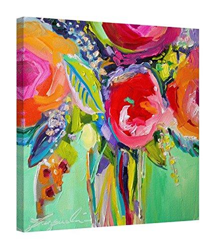 Easy Art Prints Jacqueline Brewer's 'Ode to Summer 1' Premium Canvas Art 16 x 16 ()
