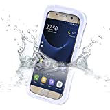 Galaxy S7 Edge Waterproof Case,Vcloo® 20ft(6M)Galaxy S7 Edge Case, Dust Proof, Snow Proof, Shockproof, Heavy Duty Full Sealed Underwater Swimming Diving Case for Galaxy S7 Edge(White)