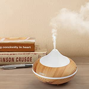 Aromatherapy Diffuser, 200ml Essential Oil Diffuser Mini Humidifier Cool Mist for Dry Hot Weather Auto Shutoff Wood Cover Design