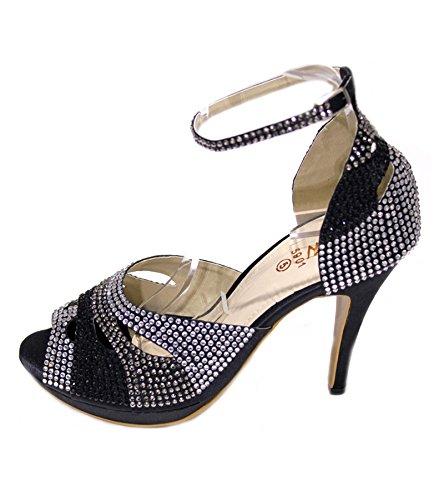 Wear & Walk UK - Sandalias de vestir para mujer - Black Multy