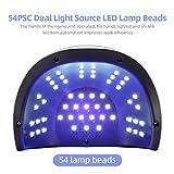JODSONE 120W UV LED Nail Lamp for Two Hand, Led