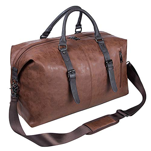 Oversized Leather Travel Duffel