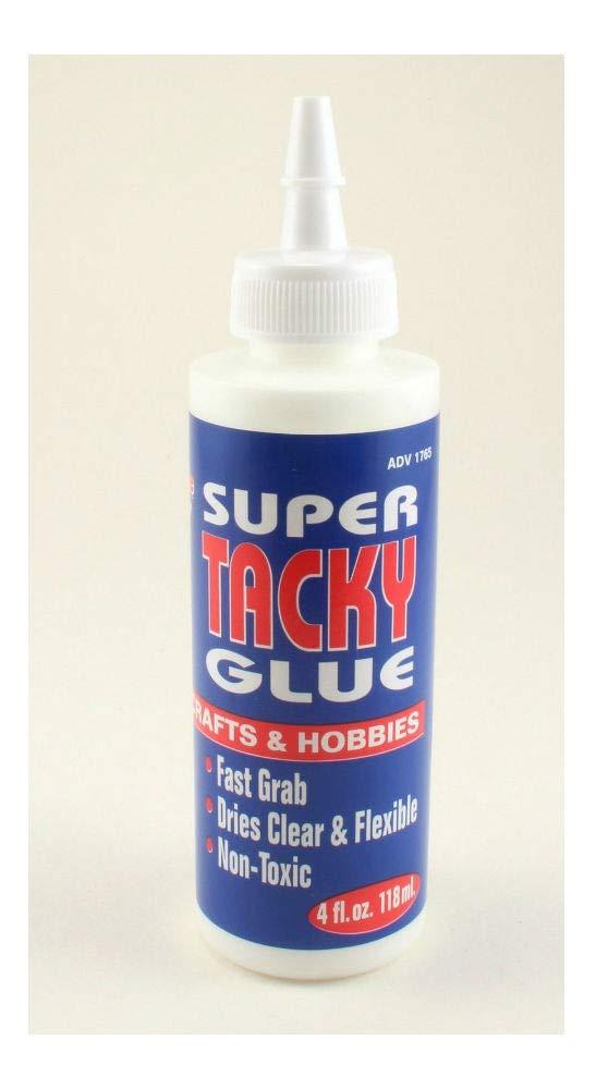 Super Tacky Glue 4oz Non-Toxic Fast Grab Dries Clear Fast