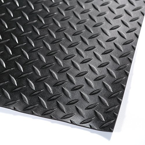 Hefty Mat Anti-Slip Rubber Sheet roll with Diamond Sheet for Operation Platform,Passage,Storage Ground,Power Station,Road and Bridge, Black, 3.2 feet ×16 feet ×1/10 inch by Hefty Mat (Image #4)
