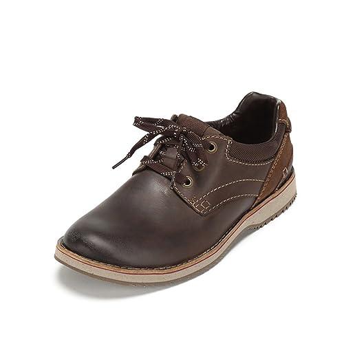 Clarks Mahale Plain - Zapatos de cordones de cuero para hombre, color marrón, talla 41.5 EU (7.5 Herren UK)