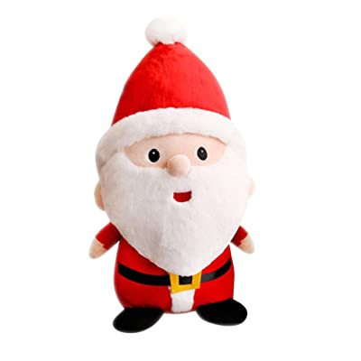 STOBOK Christmas Plush Santa Doll Cartoon Toy Figurine Gift Desktop Ornament for Kid Christmas Tree Xmas Party Decorations Hanging Stuffed Pendant 40CM: Office Products