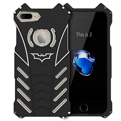 Shockproof Anti-drop Aerospace Aluminum Metal Batman Phone Protect Shell Military Grade Drop Tested Iron Man Bumper Back Cover for Apple iPhone 7 Plus at Gotham City Store