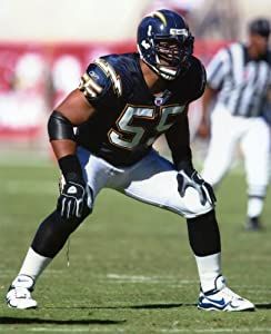 Junior Seau San Diego Chargers 8x10 Sports Action Photo (a)