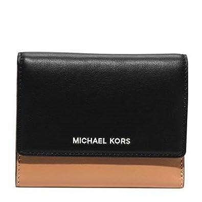 8f48583a1142 Amazon.com: Michael Kors Colby Medium Trifold Wallet Suntan/black: Shoes