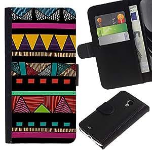 iBinBang / Flip Funda de Cuero Case Cover - Americana modelo colorido - Samsung Galaxy S4 Mini i9190 MINI VERSION!