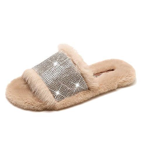 Huagmei Womens The Fur Slide 83469f4ebc