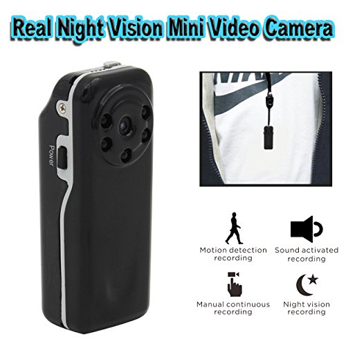 Conbrov DV12 HD 720P Mini Spy Hidden Camera with Night Vision and Voice Activated Recording, Portable Pocket Body...