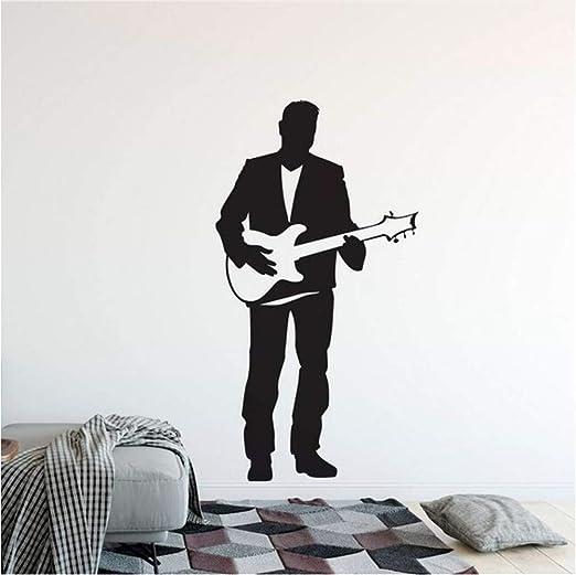 Waofe Guitarra Eléctrica Etiqueta De La Pared Singer Man Con ...