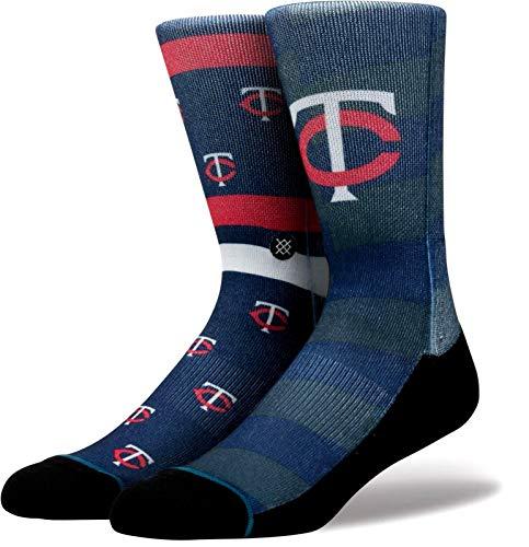 Stance Men's Twins Splatter Socks Blue L