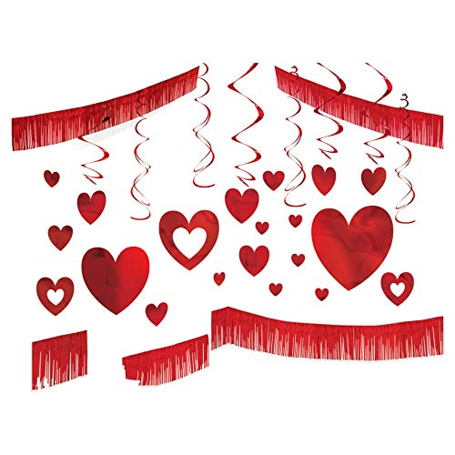 Valentine's Day Giant Room Red Foil Decorating Kit, 25 Ct. | Party Decoration]()