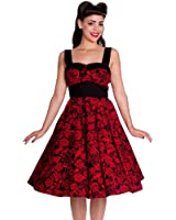 Hell Bunny 50's Arcadia Rose Anchor Dress Red