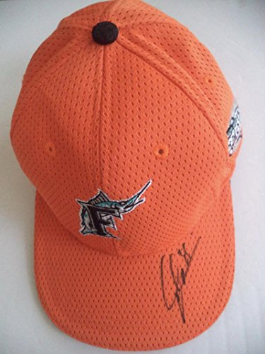 Dontrelle Willis Florida Marlins Signed Autograph Papa Jones Orange Cap W/coa Autographed Hats