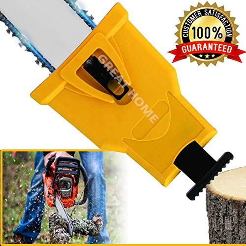 Chainsaw Teeth Sharpener Portable Proprietary Bar-Mount Chainsaw Chain Sharpening Kit Fast-Sharpening Stone Grinder Tools (Fit With 2 Holes Bar Chainsaw) Shipping By FBA