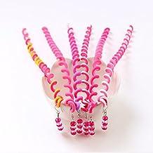 Fabal niños rizador de cabello pelo trenzado calcomanía para bebé niña decoración pelo accesorios, Rosado
