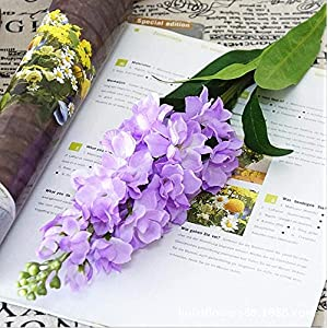 Roossys Hyacinth Artificial Flowers Hyacinth Violet Flower Fake Silk Artificial Flowers Marriage Birthday Party Bridal Floral Home Decoration Ornamental Flower Decoration (Light Purple) 48