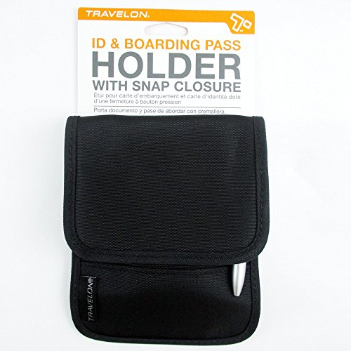 51GcYotHLRL - Travelon Folding Id and Boarding Pass Holder, Black, One Size