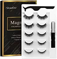 Magnetic Eyelashes Kit Magnetic Eyeliner With Magnetic Eyelashes Magnetic Lashliner For Use with Magnetic False Lashes...
