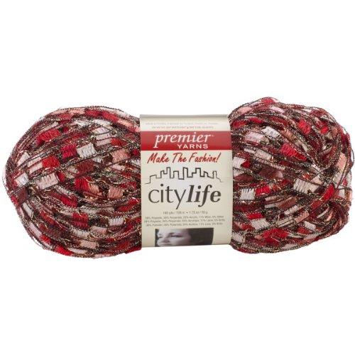 - Premier Yarn 62036s City Life Ladder Yarn, Red Hot, 3 Pack