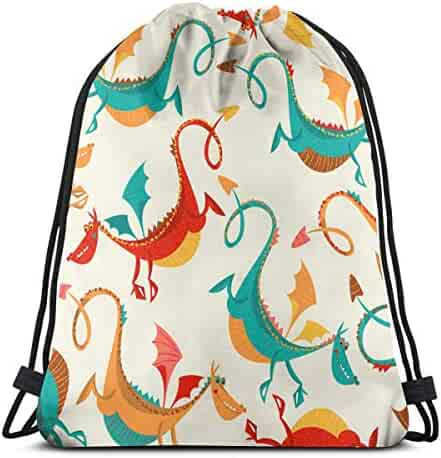 Unisex Drawstring Bags Dog Portable Home Sports Fitness Backpack Gymsack