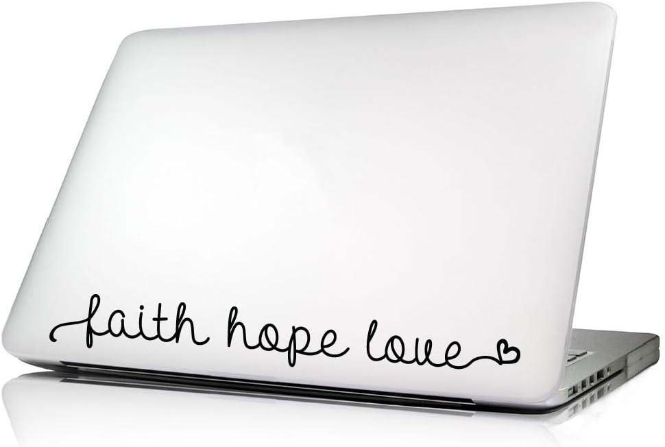 Faith Hope Love vinyl sticker decal Car Window Mac U Choose Size /& Color