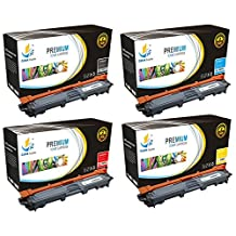 Catch Supplies Replacement TN221 Toner Cartridge 4 Pack for the Brother TN-221 series|1 TN221BK, 1 TN221C, 1 TN221M, 1 TN221Y| compatible with HL-3140,3150,3152,3170, MFC-9130,9140,9330,9340, DCP-9020