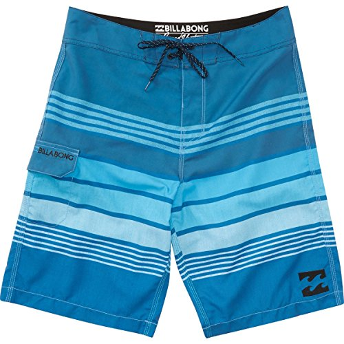 Billabong Men's All Day Stripe Boardshort, Blue, 32