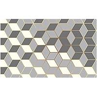 Kitchen Non-Slip Mat Home Floor Carpet Rug Waterproof Anti-Oil PVC Door Mats AU (Gray, 75cm)