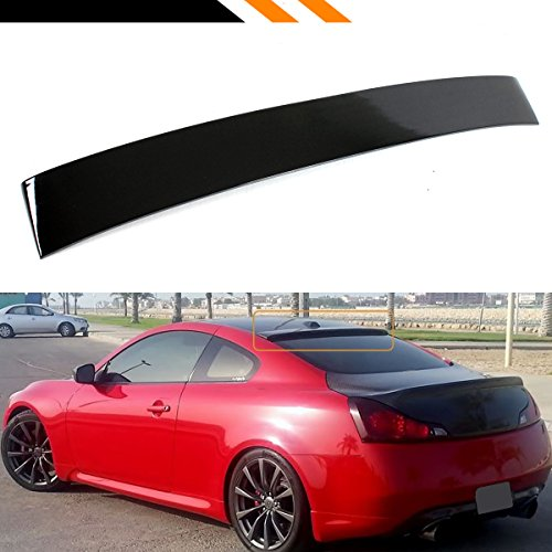 Cuztom Tuning FOR INFINITI 2008-2016 G37 Q60 2 DOOR COUPE GLOSSY BLACK REAR WINDOW ROOF SPOILER (Black Rear Roof Spoiler)