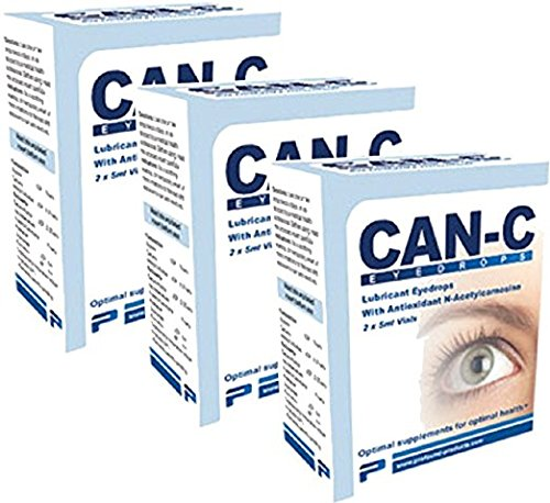 Can-C Lubricant Eye Drops with Can-C Lubricant Eye Drops with N-Acetylcarnosine, 3 boxes with six 5ml vials