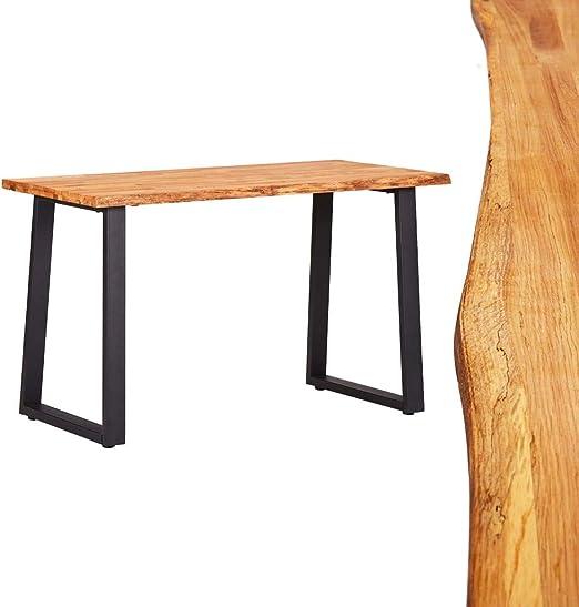 Esstisch Eiche Massiv Tisch Metallbein Holztisch Küchentisch