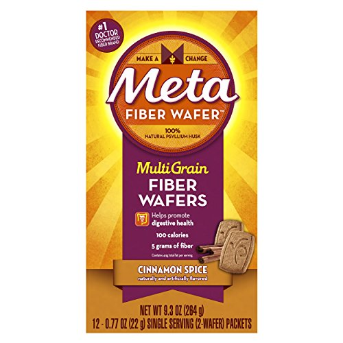 Fiber Wafers (Meta Multi-grain Fiber Wafers by Meta, Cinnamon Spice, 12 Count (Pack of 2))